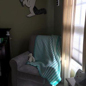Other - Handmade crochet blanket green and white